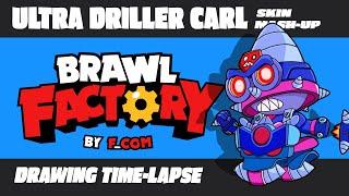 Brawl Stars / Ultra Driller Carl [Skin mesh-up]