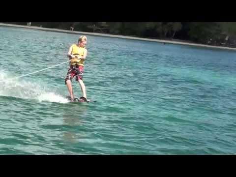 Brandon wakeboarding in Bloody Bay Jamaica