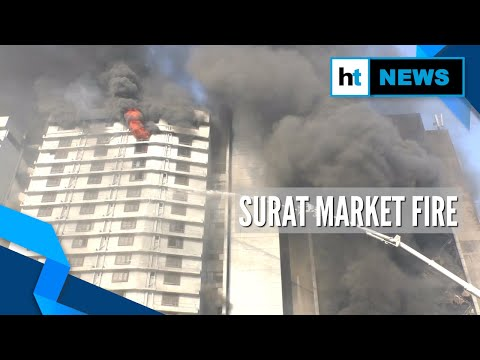 Watch: Firefighters continue to battle Surat market blaze