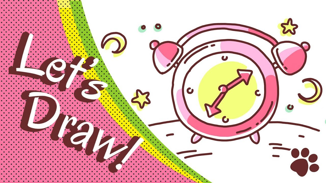 How To Draw Cute Alarm Clock Step By Step Cute And Easy Easy