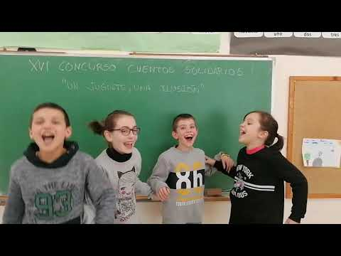 Mensaje de os alumnos del CEIP Virxe do Carme de Sober tras ser premiados en un concurso de cuentos