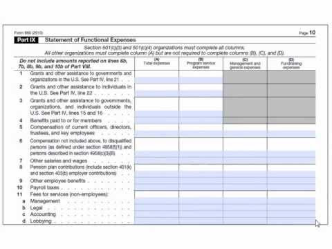Form 990 Part 9 The Rest Of The Formand The Schedules Youtube