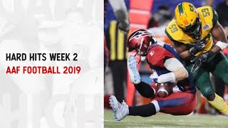 Hard Hits Of Week 2 | Alliance of American Football 2019 Highlights