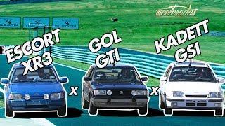 DESAFIO GOL GTi x KADETT GSi x ESCORT XR3 - ESPECIAL #3 | ACELERADOS thumbnail