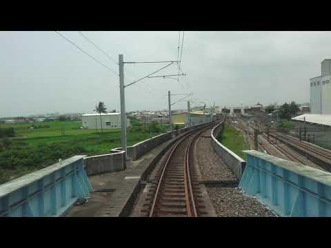 台鐵  沙崙線 3728次 沙崙 - 台南 路程景 行經 南台南站路段地下化工程 切換後西正線