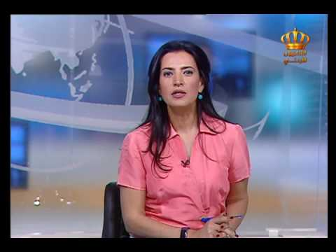 English News at Ten on Jordan Television 25-04-2017