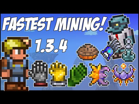 Terraria Console 1.3.4 FASTEST MINING SPEED EVER!