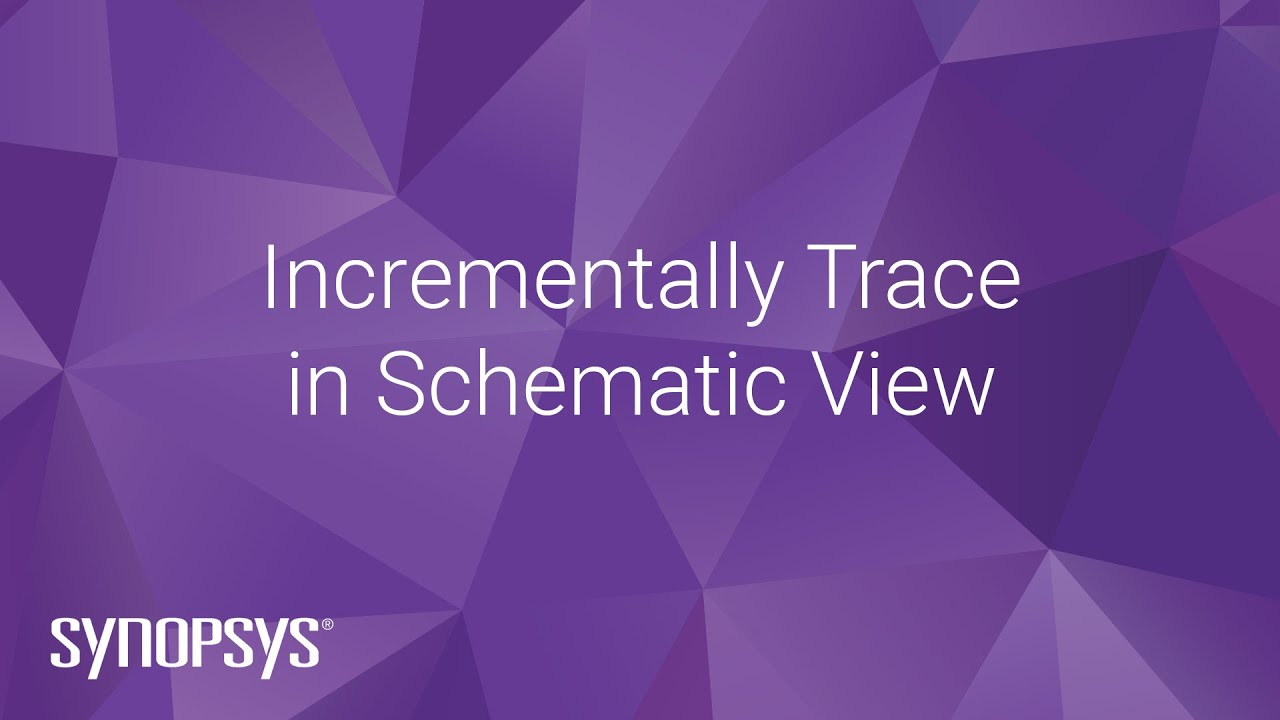 Incrementally Trace in Schematic View - YouTube