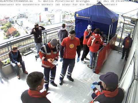4. Berliner Firefighter Stairrun 2014 Webcam Ziel ab 13:43 Uhr