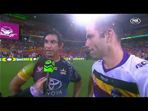 Johnathan Thurston and Cameron Smith have shared a moment