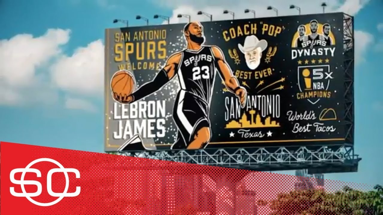 What if all 30 NBA teams made their pitch to LeBron James via billboard? | SportsCenter