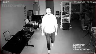 Тестовая видеозапись с IP-камеры IPEYE-DMA1.3-SR-3.6-01
