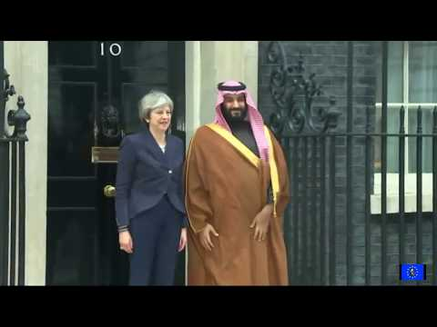 Theresa May rolls out the red carpet for Saudi Arabian war criminal