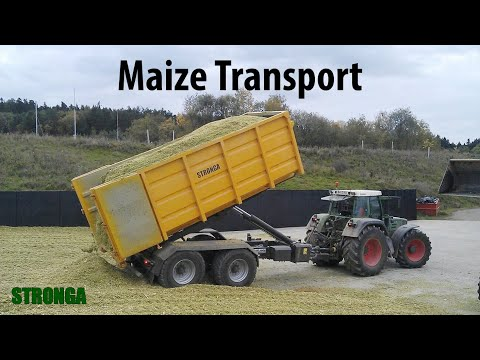 Stronga HookLoada HL180T & Krone Big X – Magnificent maize harvest trailer