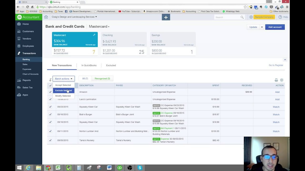 Disconnecting an Account from your Bank Feeds - QuickBooks Online Tutorial