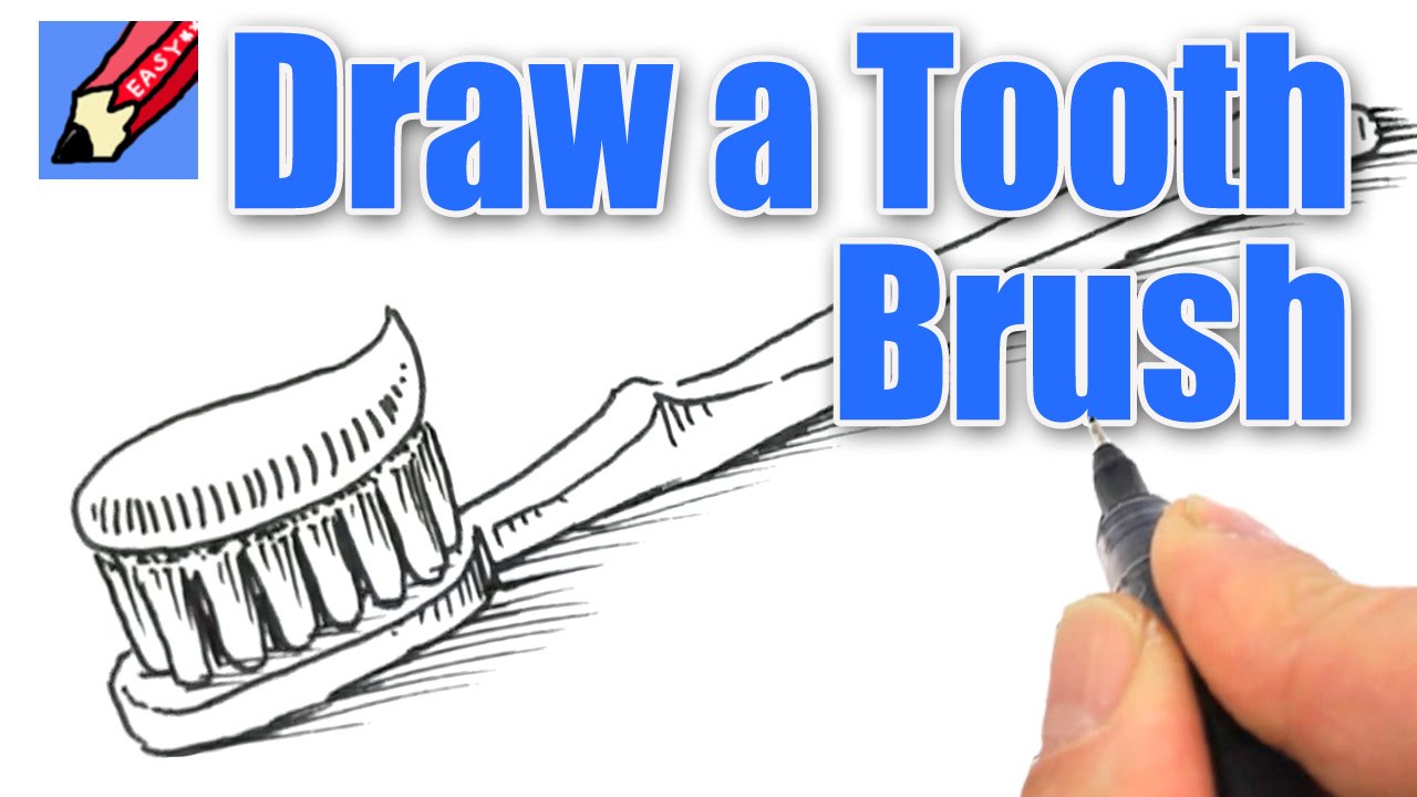How To Draw A Tooth Brush Real Easy Youtube