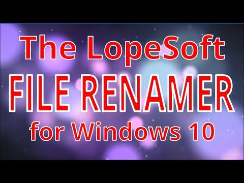 file renamer basic windows 10