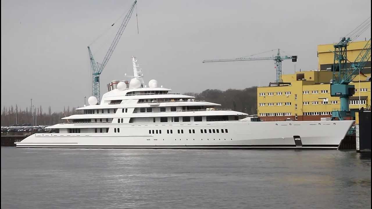 Superyacht Azzam Lurssen Werft Weser Germany