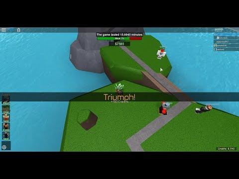 Wave 38 on Grasslands with no railgunner- ROBLOX tower battles