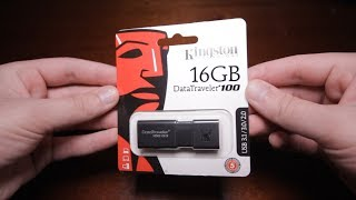 Kingston DataTraveler 100 G3 16GB Распаковка и Тест