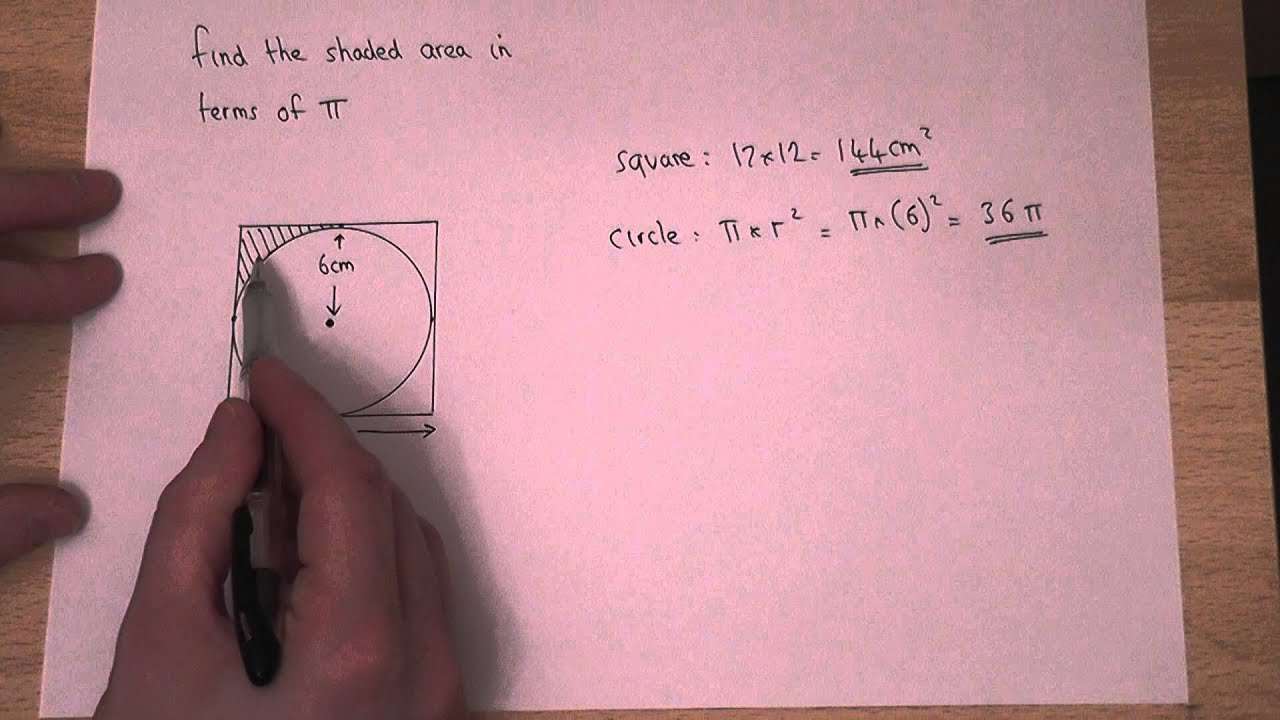 Gcse Maths: Area : How To Find The Area Of A Circle Inside A Square