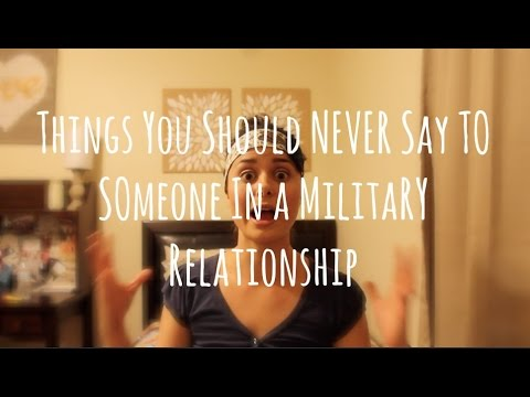 Tips on dating someone in the military