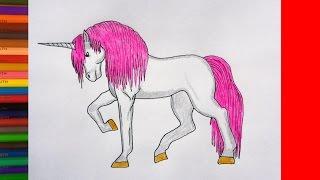 How to draw a Unicorn, Как нарисовать Единорога, рисунки для детей