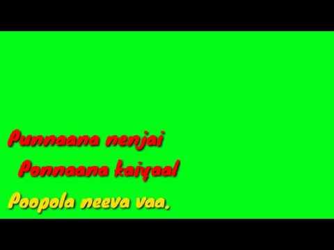 Kannana Kanne Viswasam Movie Song Status Green Lyrics / Green Screen ( Empty Audio )