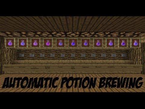 Minecraft Automatic Potion Brewing 1 8 Youtube