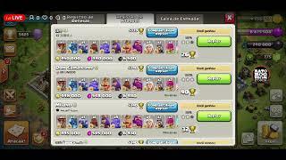 Clash Of Clans Ataques Cv12 Liga Lendária e Replay PT War