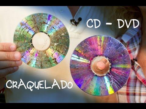 CD o DVD Craquelado para Bisuteria o Decoracion