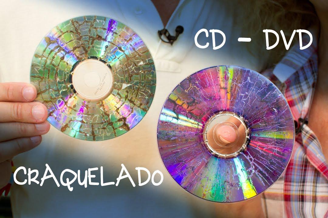 CD o DVD Craquelado para Bisuteria o Decoracion  YouTube