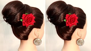 New easy juda hairstyle with using clutcher | juda hairstyle with trick | easy hiarstyle |hairstyles