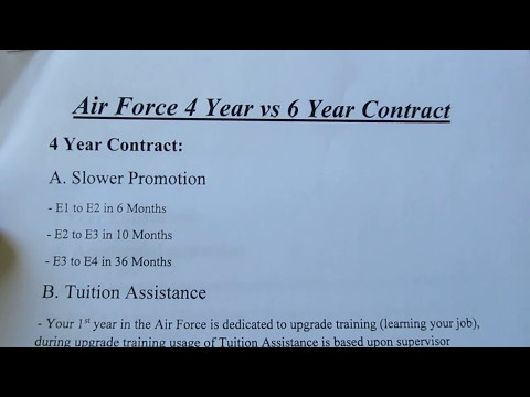 Air Force 4 vs 6 Year Contract