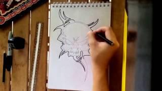 Tribal Skull Tattoo Design | Daniel Foster