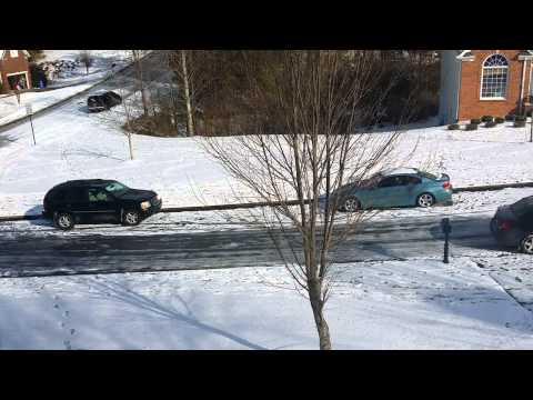 Cars Ice Skating - Atlanta, GA, Winter Storm 2014