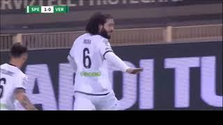 Spezia - Verona 1-2: Pazzesco gol in rovesciata di Mora