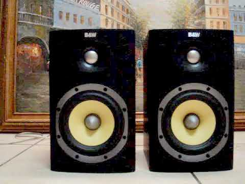 BOWERS AND WILKINS BW DM600 S3 BLACK BOOKSHELF SPEAKERS