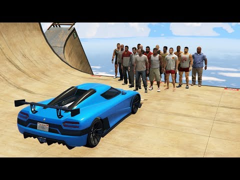 GTA 5 Ragdolls Jumps/Falls Compilation...