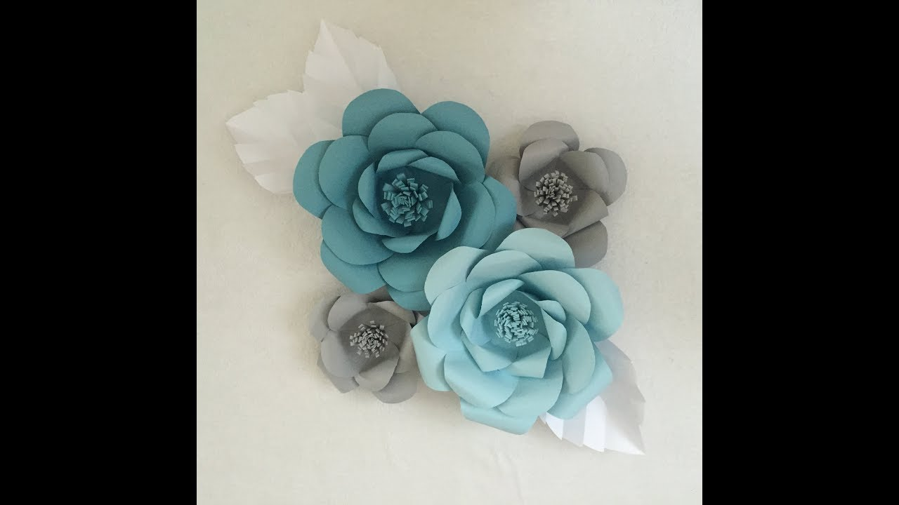 Diy giant paper flowers wall decor youtube diy giant paper flowers wall decor mightylinksfo