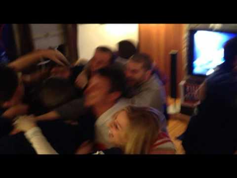 New York Giants Super Bowl XLVI Celebration Fan Reaction