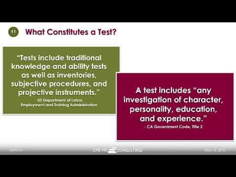 CPS HR Series Webinar: Hiring is Testing (Even if you're not calling it a