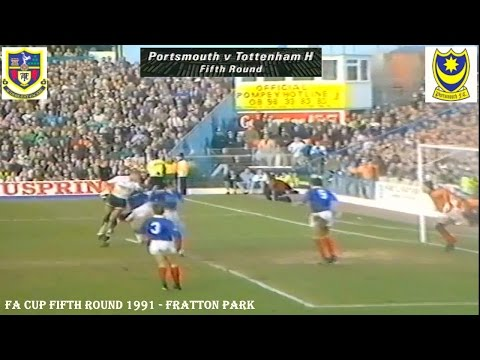 PORTSMOUTH FC V TOTTENHAM HOTSPURS FC - 1-2 - FA CUP 5TH ROUND 1991 - FRATTON PARK