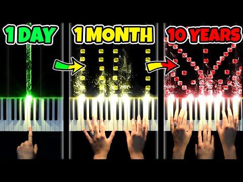 1 DAY vs 10 YEARS of PIANO indir