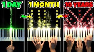 1 DAY vs 10 YEARS of PIANO