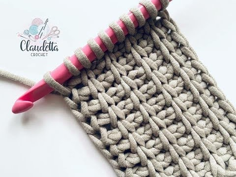 TUNISIAN CROCHET RIB STITCH / Beginner