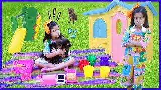 ANNY FINGE BRINCAR de irmã gêmea / Anny pretends to play twins with Mom! - Сестры близнецы