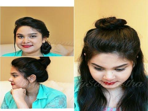 3 Cute & Easy Summer Hairstyles | Quick Messy Bun Hairstyles | AsianBeautySarmistha