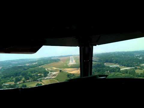Atterrissage cockpit a320 air france Biarritz LFBZ
