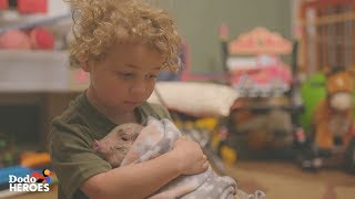 This Little Boy And His Mom Take Care of 70 Rescued Farm Animals | The Dodo Heroes Season 2